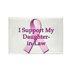 I Support My Daughter-in-Law Rectangle Magnet (100