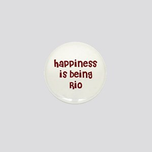 happiness is being Rio Mini Button