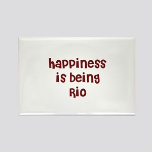 happiness is being Rio Rectangle Magnet