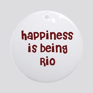 happiness is being Rio Ornament (Round)