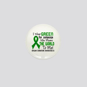 Organ Donation MeansWorldToMe2 Mini Button