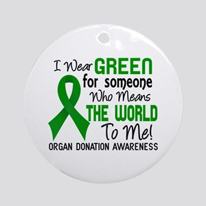 Organ Donation MeansWorldToMe2 Ornament (Round)