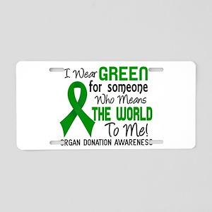 Organ Donation MeansWorldTo Aluminum License Plate