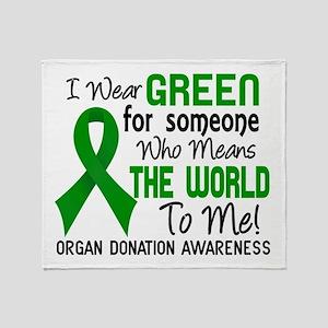 Organ Donation MeansWorldToMe2 Throw Blanket