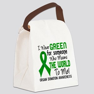 Organ Donation MeansWorldToMe2 Canvas Lunch Bag
