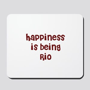 happiness is being Rio Mousepad