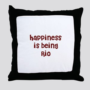 happiness is being Rio Throw Pillow