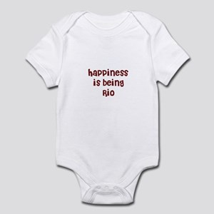 happiness is being Rio Infant Bodysuit