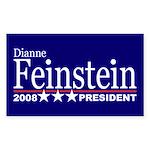 DIANNE FEINSTEIN PRESIDENT 2008 Sticker (Rectangul