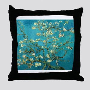 Vincent Van Gogh Blossoming Almond Tr Throw Pillow