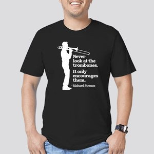 Never Look At The Trom Men's Fitted T-Shirt (dark)