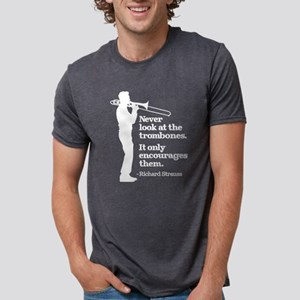 Never Look At The Trombones Mens Tri-blend T-Shirt