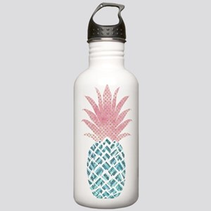 Watercolor Pink & Stainless Water Bottle 1.0L