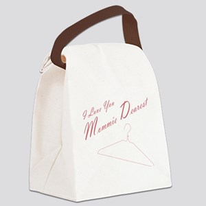 I Love you Mommie Dearest Canvas Lunch Bag