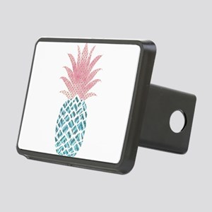 Watercolor Pink & Blue Rectangular Hitch Cover