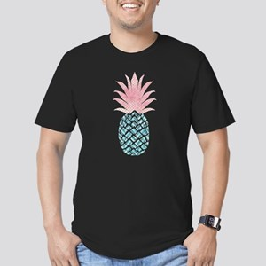 Watercolor Pink & Blue Pineapple T-Shirt