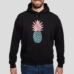 Watercolor Pink & Blue Pineapple Sweatshirt