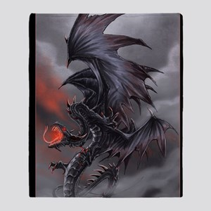 The Dragon of Despair Throw Blanket