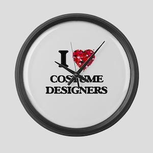 I love Costume Designers Large Wall Clock