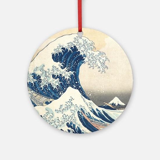wave hello Round Ornament