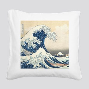 wave hello Square Canvas Pillow
