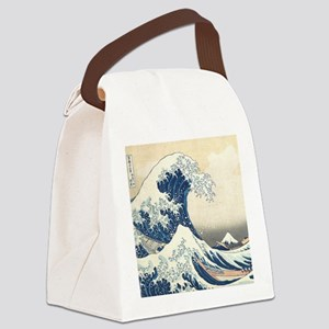 wave hello Canvas Lunch Bag