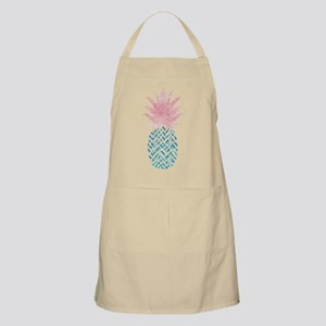 Watercolor Pink & Blue Pineapple Light Apron