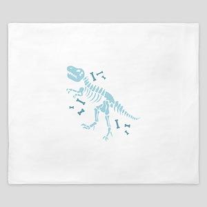 Dinosaur Fossils King Duvet
