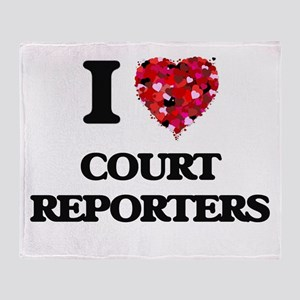 I love Court Reporters Throw Blanket
