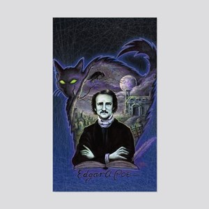Edgar Allan Poe Black Cat Sticker (Rectangle)