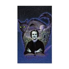 Edgar Allan Poe Black Cat Sticker (Rectangle)