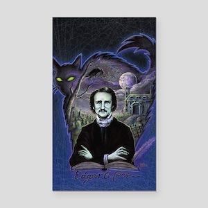 Edgar Allan Poe Black Cat Rectangle Car Magnet