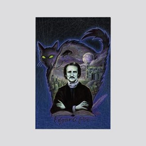 Edgar Allan Poe Black Cat Rectangle Magnet