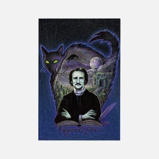 Edgar Allan Poe Black Cat Rectangle Magnet