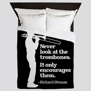 Never Look At The Trombones Queen Duvet