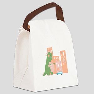 City Kaiju Canvas Lunch Bag