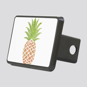 Watercolor Peach Pineapple Rectangular Hitch Cover