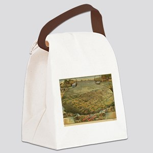 Vintage Pictorial Map of Phoenix Canvas Lunch Bag