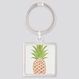 Watercolor Peach Pineapple Keychains