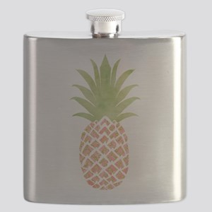 Watercolor Peach Pineapple Flask