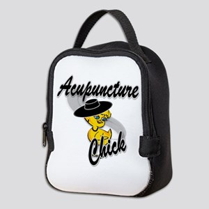 Acupuncture Chick #4 Neoprene Lunch Bag