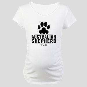 Australian Shepherd Mom Maternity T-Shirt