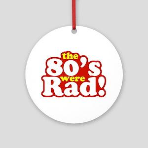 Rad Eighties Ornament (Round)