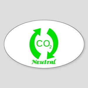 Carbon Neutral Oval Sticker
