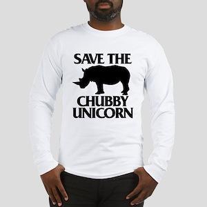 Save The Chubby Unicorn Long Sleeve T-Shirt