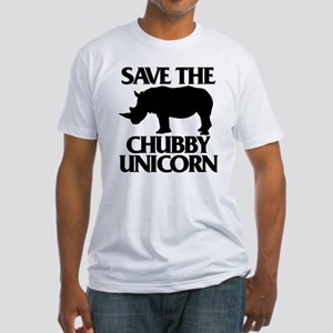 Save The Chubby Unicorn Fitted T-Shirt