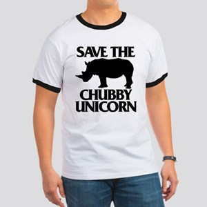 Save The Chubby Unicorn Ringer T