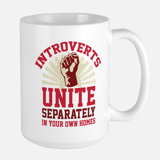 Introverts Unite Large Mug