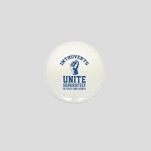 Introverts Unite Mini Button