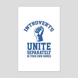 Introverts Unite Mini Poster Print